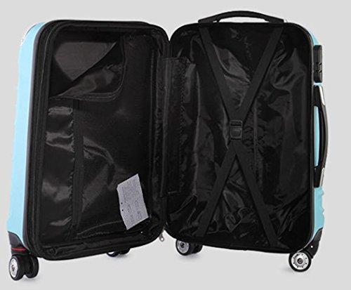 Xiuxiandianju 20 pollici 24 pollici 38 pollici universale ABS asta caso impermeabile usura diversi bagagli valigia bagaglio di viaggio dimensione Purple