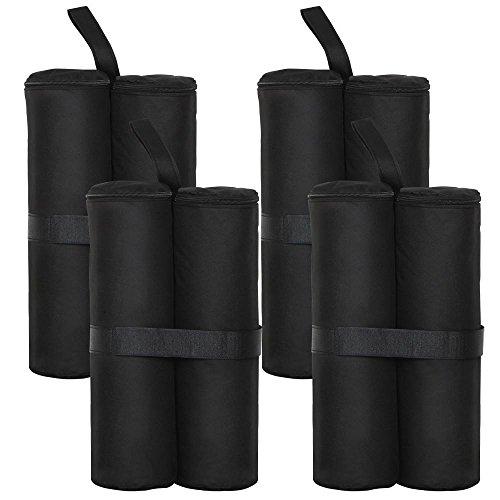 Yahee 4er Set Standfuß für Pavillon Partyzelt Gewichte schwarz