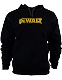 DEWALT DWC47-001 Work Wear Black Warm Hooded Sweat Shirt Jumper
