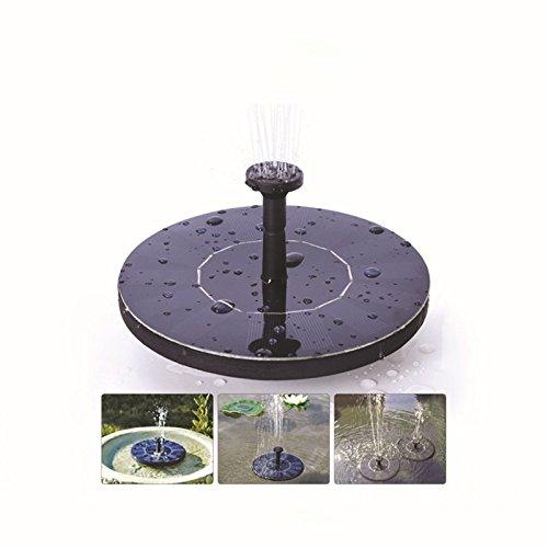 Etbotu für Garten Pool Teich Patio Outdoor Bewässerung Tauchpumpe Freie stehende Wasser Pumpen mit 1.4W Solar Panel Solar Vogel Bad Brunnen Pumpe Sprinkler garden