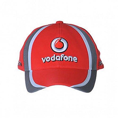 Vodafone McLaren Chapeau Jenson Drivers Unique Rosso/Argento
