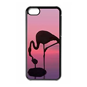 iPhone 5c Cell Phone Case Black BE A FLAMINGO IN A FLOCK OF PIGEONS Personalized Phone Case Cover For Girls CZOIEQWMXN22024