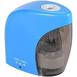 KKmoon Automática Sacapuntas Eléctrico con Cable USB para Niños Inicio Aula Oficina Estudiantes de Regalo,Color Azul