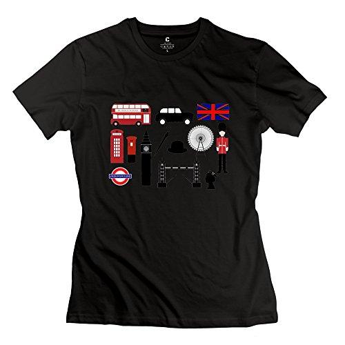 onlyprint-donna-di-protezione-motivo-bus-londinese-e-big-ben-maglietta-misura-42-colore-azzurro-nero