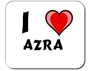 I Love Azra Decorated Mouse Pad