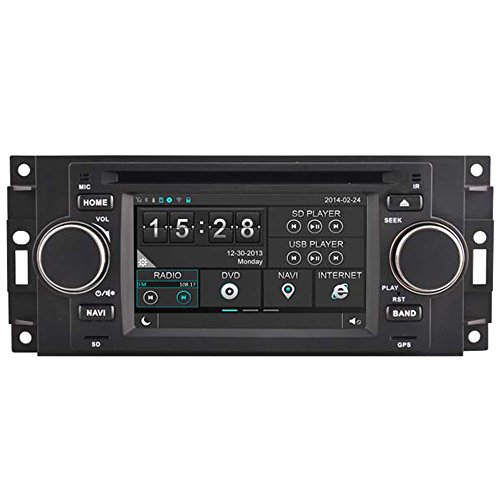 witson® für 300 C PT Cruiser Dodge Ram Jeep Cherokee Grand Auto DVD GPS Navigation Audio Video Stereo System mit kapazitivem Touch-Display Radio (am/fm) Unterstützung SD/USB/iPod/iPhone/3G/Video/DVR/Back Up Kamera/Bluetooth für Hands-Free/Lenkradfernbedienung (Dodge Ram Tuner)
