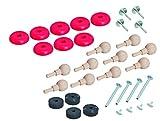 Eichhorn 100001501 - Bahn, Ersatzteile-Set - beinhaltet Räder, Achsen, Dübel, Magnete und Nägel, FSC 100% Zertifiziertes Buchenholz