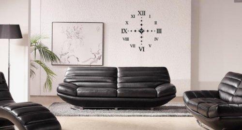 Wanduhr Wallclock Design Wandtattoo Dekoration Uhren MILE NEU Schwarz Geschenk Picture