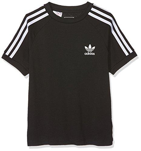 Adidas clfrn, t-shirt bambina, nero/bianco, 7-8a