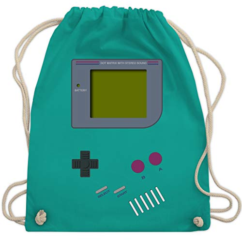 Nerds & Geeks - Gameboy - Unisize - Türkis - WM110 - Turnbeutel & Gym Bag