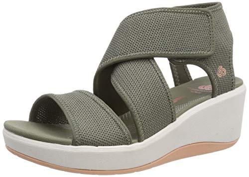 Clarks Step Cali Palm, Zapatillas para Mujer, Verde (Olive-), 38 EU