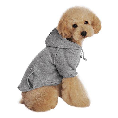 Baumwolle Hundemantel Hundejacke Hundepullover mit Kapuze Hunde Winter Herbst warme Hundebekleidung Hunde Kostüm Kleidung S M L XL (Nobbies Kostüme Halloween)