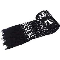 Hat Pink Santa - Hombres Bufandas Retro Navidad, Neutral bufandas de lana caliente de las mujeres, otoño e invierno las parejas de punto bufandas largas Regalos envueltos Exquisito y encantador exquis