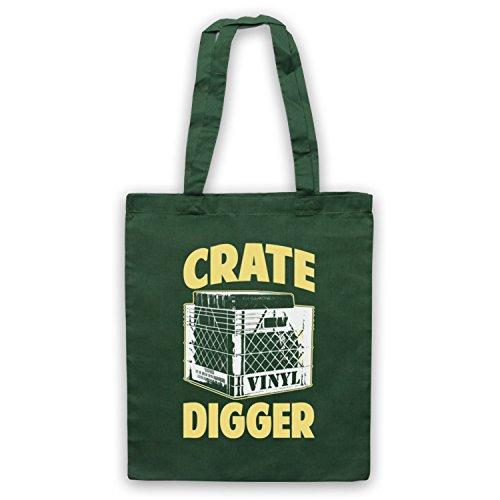 Crate Digger vinile JUNKIE Borsa Dark Green