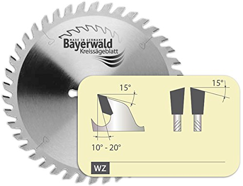 Bayerwald - HM Kreissägeblatt - Ø 160 mm x 2,2 mm x 20 mm | Wechselzahn (48 Zähne) | Nebenlöcher: TS 55 + TSC 55 + ATF 55 + AP 56 | geringe Schnittbreite, ideal für Akku-Kreissägen -