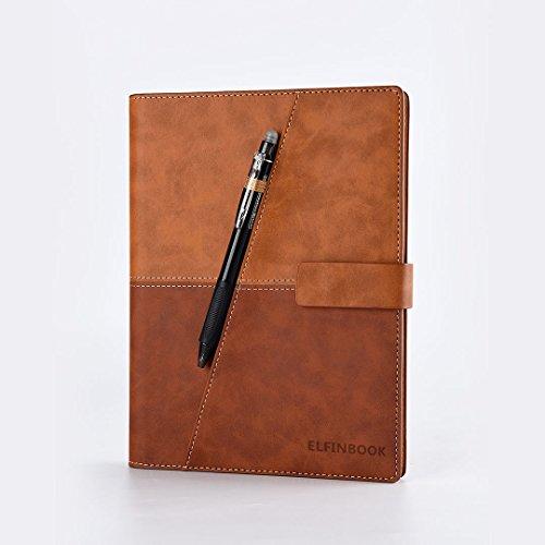 Ruled Notebooks/Zeitschriften Premium Dickes Papier Faux Leder Writing Notebook, Hardcover, ausgekleidet, Smart, wiederverwendbar, löschbar (Farbe : Brown)