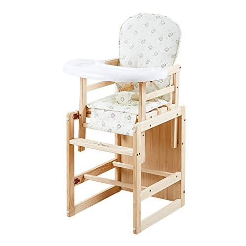 en Bois Multifonctionnel Chaise de bébé | Chaise de Salle à Manger pour bébé Hauteur Ajustable | Portable Pliable Alimentation de bébé Chaise Haute