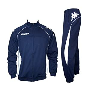 Kappa Herren Trainingsanzug BRECCIA TRACKSUIT Gr. S Herren 902 blau-weiss
