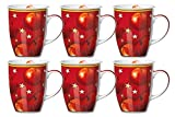 Kaffeebecher 6er Set 320ml Winterapfel - Flirt by R&B