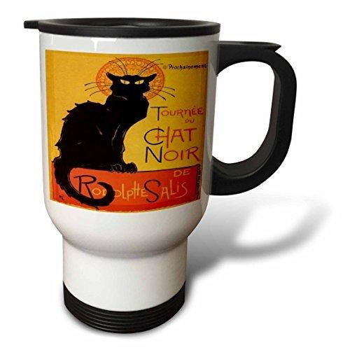 statuear Katzen Le Chat Noir Edelstahl 14-ounce Reise Tasse - Liquiseal Travel Mug