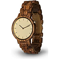 LAiMER Woodwatch MELANIE | zebrano wood | 100% natural product from South Tyrol | light as a feather, hypoallergenic and sustainable