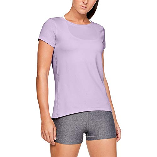 Under Armour Damen UA HG SS Kurzarmshirt Violett MD