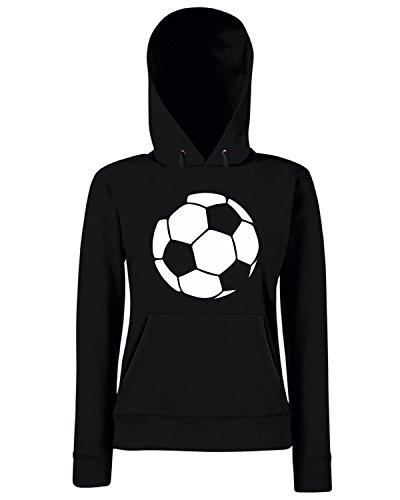 T-Shirtshock - Sweats a capuche Femme OLDENG00500 fun soccer ball Noir