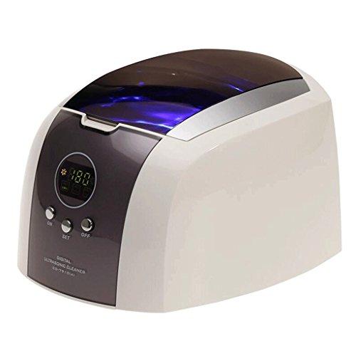 Sun LL Ultraschall-Reinigungsmaschine Gläser Reinigungsmaschine Ultraschall-Haushalts-Reinigungsmaschine Schmuck-Uhr-Zahnprothese-Reiniger Ultrasonic Cleaner (Color : A)