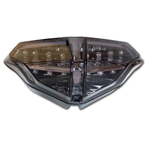 LED phare de moto eVO ducati 848/-12 13-08 1098/1098 s r modèles 2008-2009 1198/s modèles 2009-2011, teintées conformes
