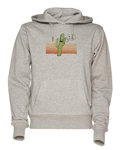 Jergley Cactus - Cactus Unisex Grau Sweatshirt Kapuzenpullover Herren Damen Größe XXL | Unisex Sweatshirt Hoodie for Men and Women Size XXL