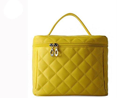 GBT Großvolumige tragbaren Kosmetiktasche Toilettenartikel Kits Eintritt Paket Yellow