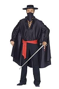 FIORI PAOLO-giustiziere disfraz para adulto, color negro, talla 52-54, 62093