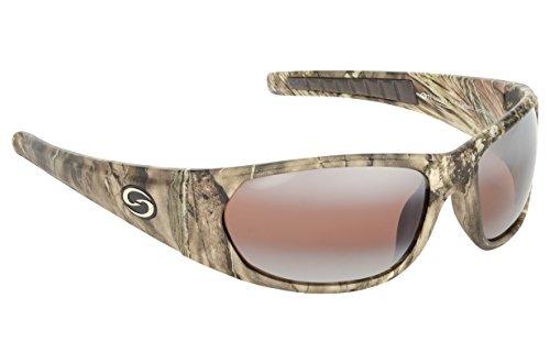 Strike King S11Optik Champlain Polarisierte Sonnenbrille, unisex, Mossy Oak Camo Frame - DAB Amber Lens