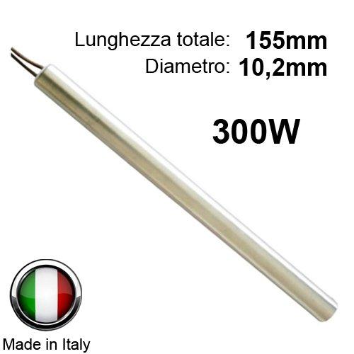 Zündkerze Zündung für Pelletofen 300W 155mm; Durchmesser 10,2mm; für die Nordica Extraflame