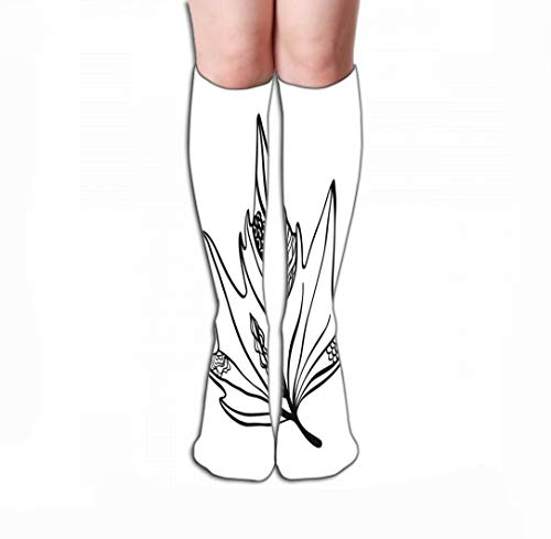 Xunulyn Hohe Socken Thin High Socks 19.7