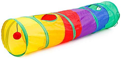 ShengshiZZ Stimolante Animale Domestico Giocattolo Four Seasons Portatile Pieghevole con Ruote Animale Domestico Cane e Gatto Tunel - Lunghezza 115 Diametro 25cm