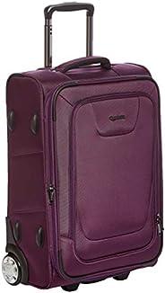 AmazonBasics 22 inch Expandable Softside Carry-On Luggage Suitcase With TSA Lock And Wheels - 24 Inch, Purple