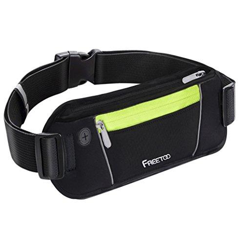 FREETOO Running Belt Waistpack Sweatproof Bumbag Fits for iPhone 7 Plus Samsung S7 Edge with Headphone Hole Test