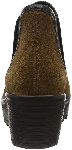FLY London Yat, Bottes Classiques Femme Marron (Bronze/black 025)