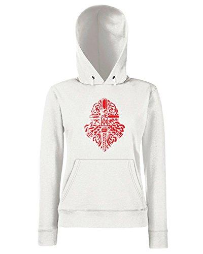T-Shirtshock - Sweats a capuche Femme TIR0237 Bjarni Warface Blanc