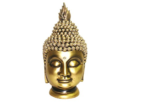 King International Polyresin Royal Golden Religious Buddha Idol,Fengshui Vass...