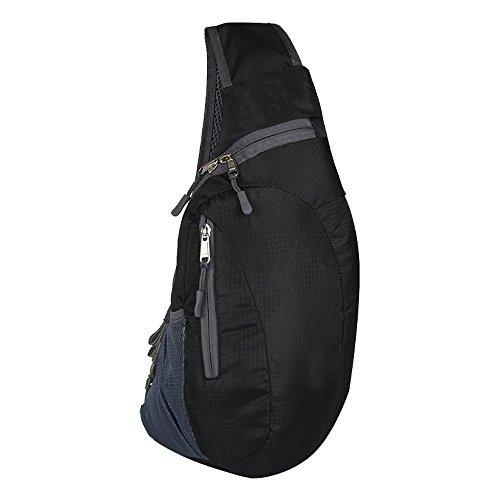 Brusttasche Sling Rucksack Schultertasche Brusttaschen für Damen und Herren Sporttasche (BLACK) Adidas Sling