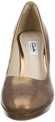 ClarksKendra Sienna - Scarpe con Tacco Donna Grigio (Bronze Metallic)