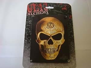 """Alchemy Gothic ART """"SKULL"""" mini métal signe 150mm x 200mm"""