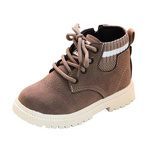 Unisex-Kinder Boots Stiefel Winter Schneestiefel Stiefeletten Martin Stiefel Fleece Booties Schneeschuhe Cartoon Baumwollanhänger-Kinderhausschuhe, Rutschfeste Sohle, Flexibel, Ideal23 EU(Grau)