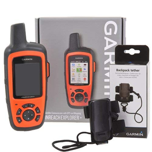 Garmin inReach Explorer + GPS Satellite Traceur avec Sac á Dos Tether
