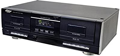 Pyle PT659DU Dual Stereo Cassette Deck with Tape USB to MP3 Converter