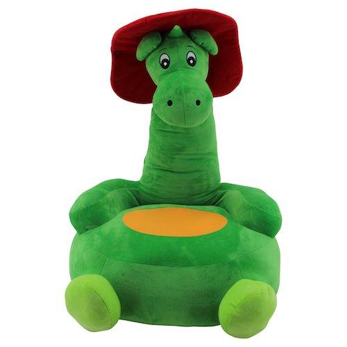Sweety Toys 10035 GRISU Plüsch Sitzkissen Kinder Baby Sitzsack Hocker Drache Feuerwehrmaskottchen -...