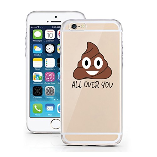licaso Handyhülle für iPhone 5 & 5S SE aus TPU mit Shit All Over You Emoji Emoticon Smiley Print Design Schutz Hülle Protector Soft Extra