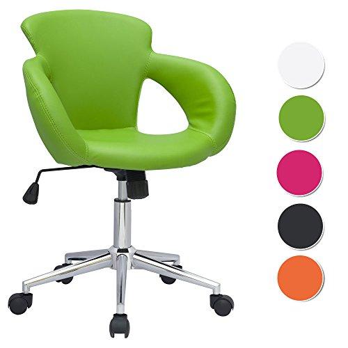 SixBros. Design Rollhocker Arbeitshocker Hocker Bürostuhl Grün M-65335-12062